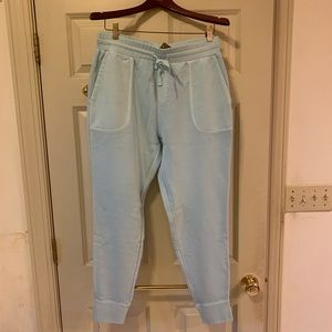 Women's J Crew M powder blue cropped lounge pants